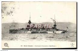 CPA Bateau Guerre Cuirasse D Escadre Suffren - Warships