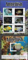 NEVIS, 2020, MNH, FISH ,ANGELFISH, SHEETLET+S/SHEET - Fishes
