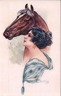 Cherubini, Portrait De Femme Et Cheval (934) - Altre Illustrazioni