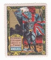 Vignette Militaire Delandre - Volontaires étrangers - Anglais - Vignettes Militaires