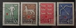Finlande 1943 / Yvert N°261-264 / Used - Oblitérés