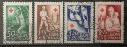 Finlande 1941 / Yvert N°225-228 / Used - Oblitérés