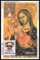 Bolivia, 1994 (#1493a), Christmas, Painting Bologna, Virgin, Child, John Paul II, Johannes Paul II, Weihnachten, Gemälde - Religious