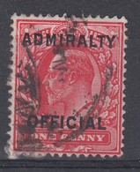 GB KE7 1d Admiralty Official Used - Officials