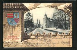 Passepartout-AK Oldenburg, Partie Am Grossherzoglich. Schloss, Wappen - Oldenburg