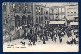 Arlon. Place Léopold. Palais De Justice. Café De La Bourse. 1909 - Arlon