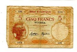 NEW CALEDONIA NOUMEA 5 FRANCS F+ 3.95 - Billets