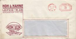 Freistempel Von HOH & KRANE Aus LEIPZIG 9.11.36 Netter Zudruck - Allemagne