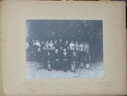 Photo De Groupe Classes De Lycée - Jeunes Filles Et Leurs Professeurs - Photo F. Hamelle, Cachan 1930 à Identifier - Personnes