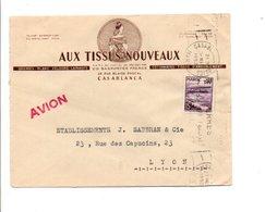 MAROC LETTRE A EN TETE DE  DE CASABLANCA POUR LA FRANCE 1953 - Storia Postale