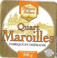 FROMAGE ETIQUETTE MAROILLES DETOURS EN FRANCE - FABRIQUE EN TIERACHE,  VOIR LE SCANNER - Fromage