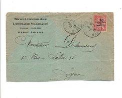 MAROC DEVANT DE LETTRE A EN TET DE RABAT 1915 - Storia Postale