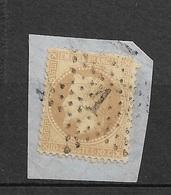France N° 28A Oblitéré étoile De Point N°1 Paris Place De La Bourse Sur Fragment B/ TB Soldé  à Moins De 15  %   ! ! ! - 1863-1870 Napoleon III With Laurels