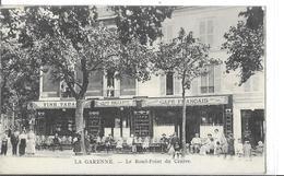 LA GARENNE COLOMBES  ROND POINT DU CENTRE   TABAC CAFE  FRANCAIS  PERSONNAGES SUR LA TERRASSE    DEPT 92 - La Garenne Colombes