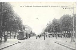 LA GARENNE COLOMBES  N 22  ROND POINT DU CENTRE ET BLD REPUBLIQUE  TRAMWAY  PERSONNAGES  DEPT 92 - La Garenne Colombes