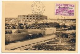 TUNISIE - 4 Cartes Maximum - Série Secours National 1941 - Exposition Philatélique De Tunis 1941 - Tunisie (1888-1955)