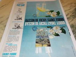ANCIENNE PUBLICITE BASSIN DE VICHY SAINT YORRE 1963 - Affiches