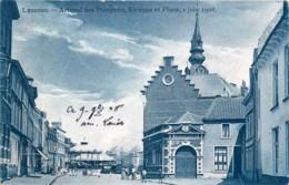 Belgique - Lessines - Arsenal Des Pompiers , Kiosque Et Place , 1 Juin 1908 ( Carrousel ) - Lessines