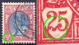 Niederlande Nr.61 A        O  Used      (918) Kerbe In Der Wertziffer 2 / Druckzufälligkeit Oder PF - Variétés Et Curiosités