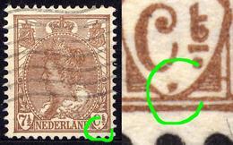 Niederlande Nr.55 A        O  Used      (919) Punkt Im Rechten Wertschild / Druckzufälligkeit Oder PF - Variétés Et Curiosités