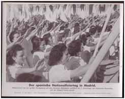 Dt- Reich (007799) Propagandasammelbild, Bilderdienst Weber Leipzig, Der Spanische Nationalfeiertag In Madrid - Covers & Documents