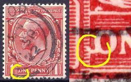 Grossbritannien Nr.128 X        O  Used      (1267) O In ONE Mit Haken  / Druckzufälligkeit Oder Plattenfehler - Errors, Freaks & Oddities (EFOs