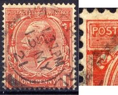 Grossbritannien Nr.128 X        O  Used      (1268) Punkt Unter O Von POSTAGE  / Druckzufälligkeit Oder Plattenfehler - Errors, Freaks & Oddities (EFOs