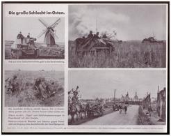 Dt- Reich (007804) Propagandasammelbild, Bilderdienst Weber Leipzig, SS Grenadiere, Die Große Schlacht Im Osten - Covers & Documents