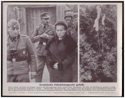 Dt- Reich (007807) Propagandasammelbild, Bilderdienst Weber Leipzig, Sowjetische Fallschirmagentin Gefast - Briefe U. Dokumente