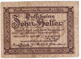 Österreich Austria Notgeld 10 HELLER FS663 NEUMARKT YBBS /169M/ - Autriche