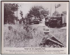 Dt- Reich (007818) Propagandasammelbild, Bilderdienst Weber Leipzig, SS PK Foto, Kampf Um Ein Ungarisches Dorf - Briefe U. Dokumente