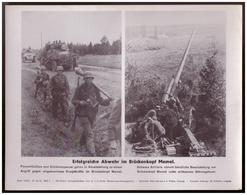 Dt- Reich (007819) Propagandasammelbild, Bilderdienst Weber Leipzig, Erfolgreiche Abwehr Im Brückenkopf Memel - Covers & Documents