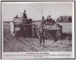 Dt- Reich (007821) Propagandasammelbild, Bilderdienst Weber Leipzig, Die Führung Einer Panzerspitze - Covers & Documents