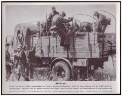 Dt- Reich (007825) Propagandasammelbild, Bilderdienst Weber Leipzig, SS PK Foto, Absitzen - Briefe U. Dokumente
