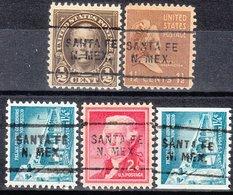 USA Precancel Vorausentwertung Preo, Locals New Mexico, Santa Fe 703, 5 Diff. Perf. 11x10 1/2 - Estados Unidos