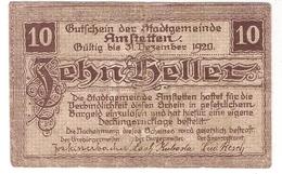 Österreich Austria Notgeld 10 HELLER FS37I AMSTETTEN /170M/ - Autriche