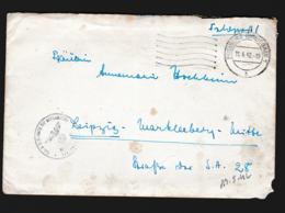 German Feldpost WW2: Schw. O.A. Abt. Der Kriegsmarine P/m Freiburg (Breisgau) 11.4.1942 - Letter  (G108-57) - Militaria
