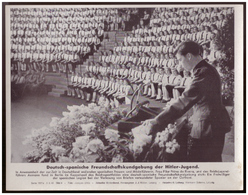 Dt- Reich (007838) Propagandasammelbild, Bilderdienst Weber Leipzig, Deutsch- Spanische Freundschaftskundgebung Der HJ - Germany