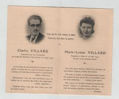 Charles Villard  Camp Struthof Natzwiller 1943 Marie Louise Bomlbardement 1944 - Images Religieuses