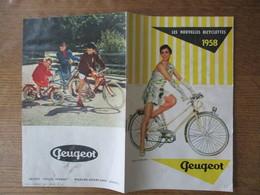 PEUGEOT LES NOUVELLES BICYCLETTES 1958 DEPLIANT PUBLICITAIRE - Publicités