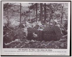 Dt- Reich (007858) Propagandasammelbild, Bilderdienst Weber Leipzig, Hier Kämpften Die Väter - Hier Sterben Die Söhne - Covers & Documents