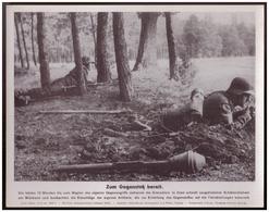 Dt- Reich (007861) Propagandasammelbild, Bilderdienst Weber Leipzig, Zum Gegenstoß Bereit - Covers & Documents