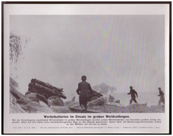 Dt- Reich (007869) Propagandasammelbild, Bilderdienst Weber Leipzig, Werferbatterien Im Einsatz Im Großen Weichselbogen - Duitsland