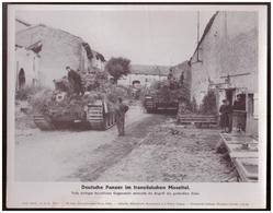 Dt- Reich (007879) Propagandasammelbild, Bilderdienst Weber Leipzig, Deutsche Panzer Im Französischen Moseltal - Covers & Documents