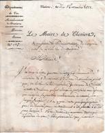 1822 - Le Maire De CLAVIERS (84) Aux Administrateurs De L'Hospice Civil De DRAGUIGNAN - Documents Historiques