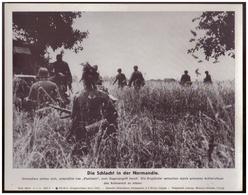 Dt- Reich (007889) Propagandasammelbild, Bilderdienst Weber Leipzig, SS- Pk Foto, Die Schlacht In Der Normandie - Briefe U. Dokumente