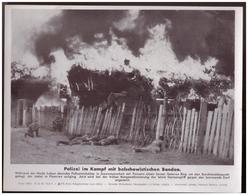 Dt- Reich (007891) Propagandasammelbild, Bilderdienst Weber Leipzig, SS- PK Foto, Polizei Im Kampf Mit Bolschewistischen - Briefe U. Dokumente