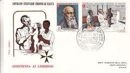 Ordre De Malte - Lettre De 1973 - Oblit Malta Sovrano Militare Ordine - Exp Vers S.M.O.M. - Médecin - Lépreux - Malta (Orden Von)