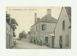 41 - COURMEMIN - Rue De La Poste Animée Devanture Quincaillerie Plaque Pub Menier Bon état - Autres Communes