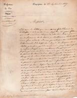 1827 - DRAGUIGNAN - Préfecture Bureau Militaire Et De Police Aux Administrateurs De L'Hospice- S.A. Du Préfet - Historische Documenten